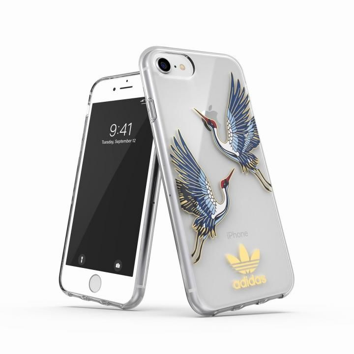 iPhone8/7 ケース adidas Originals Clear Case CNY Blue/Gold iPhone SE 第2世代/8/7/6s/6_0