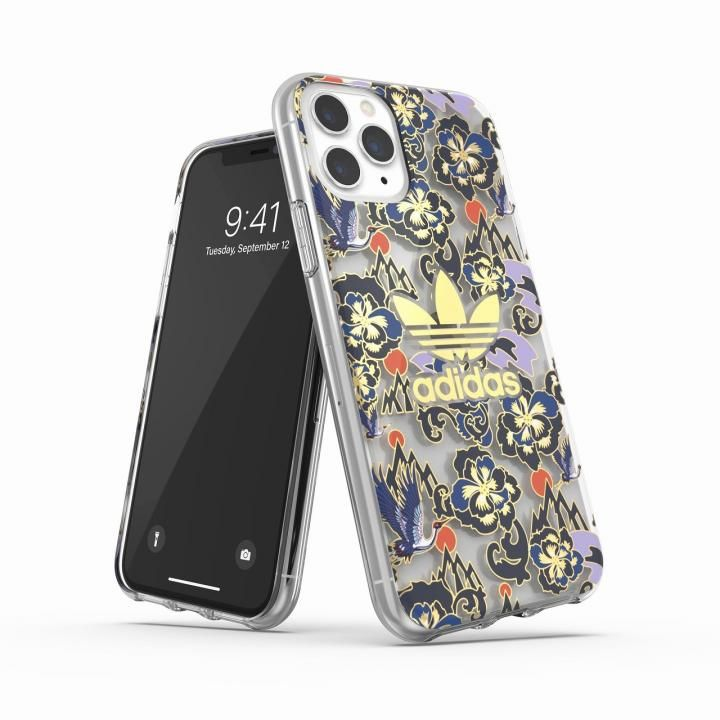 iPhone 11 Pro ケース adidas Originals Clear Case CNY AOP Blue/Gold iPhone 11 Pro_0