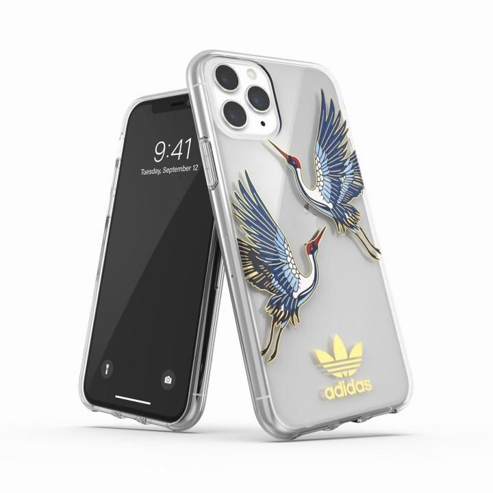 iPhone 11 Pro ケース adidas Originals Clear Case CNY Blue/Gold iPhone 11 Pro_0