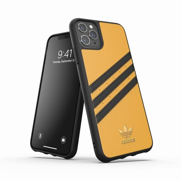 iPhone 11 Pro Max ケース adidas Originals Moulded Case SAMBA SS20 Gold/Black iPhone 11 Pro Max_0
