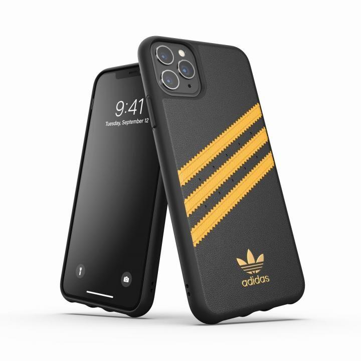 iPhone 11 Pro Max ケース adidas Originals Moulded Case SAMBA SS20 Black/Gold iPhone 11 Pro Max_0