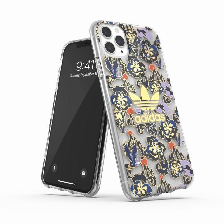 iPhone 11 Pro Max ケース adidas Originals Clear Case CNY AOP Blue/Gold iPhone 11 Pro Max_0