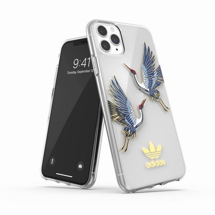 iPhone 11 Pro Max ケース adidas Originals Clear Case CNY Blue/Gold iPhone 11 Pro Max_0
