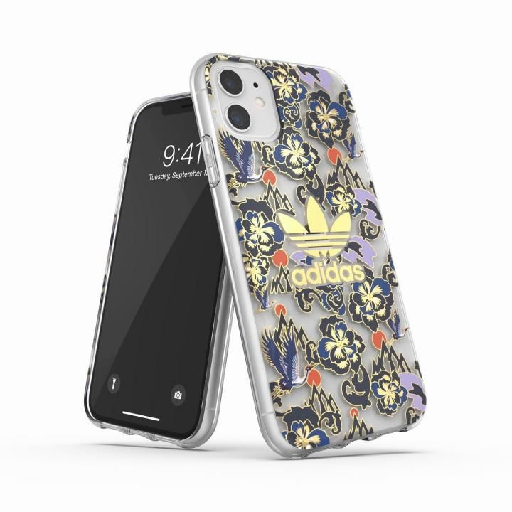 iPhone 11 ケース adidas Originals Clear Case CNY AOP Blue/Gold iPhone 11_0