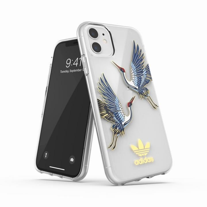 iPhone 11 ケース adidas Originals Clear Case CNY Blue/Gold iPhone 11_0