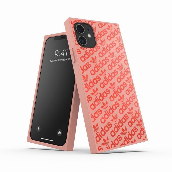 iPhone 11 ケース adidas Originals SQUARE CASE Ash pearl/Coral iPhone 11_0