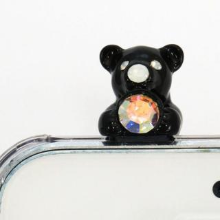 【iPhone SE/5s/5ケース】誕生石を持った クマケース バースディベアー ブラック10月 iPhone SE/5s/5ケース