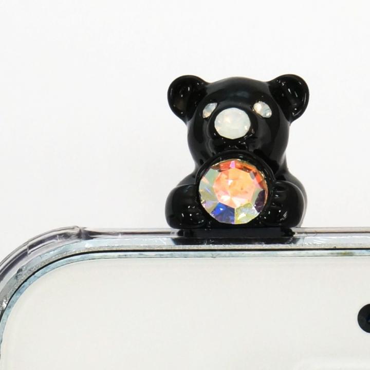 iPhone SE/5s/5 ケース 誕生石を持った クマケース バースディベアー ブラック1月 iPhone SE/5s/5ケース_0