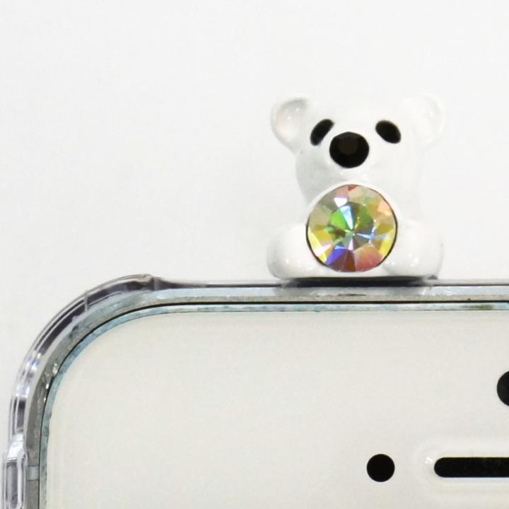 iPhone SE/5s/5 ケース 誕生石を持った クマケース バースディベアー ホワイト8月 iPhone SE/5s/5ケース_0