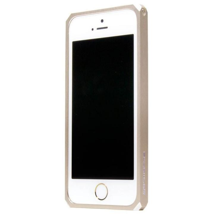 【iPhone SE/5s/5ケース】18の面を持つメタルバンパー geometas ゴールド iPhone SE/5s/5_0