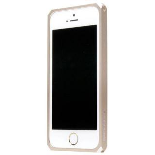 【iPhone SE/5s/5ケース】18の面を持つメタルバンパー geometas ゴールド iPhone SE/5s/5
