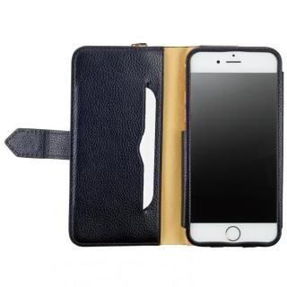 [4周年特価]BZGLAM レザー手帳型コインケース ブラック iPhone 7