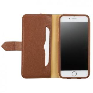 BZGLAM レザー手帳型コインケース ブラウン iPhone 7