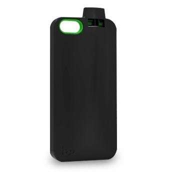 防犯用、スポーツ用に便利 ホイッスル付きケース ブラック iPhone 5ケース