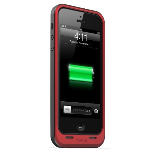 【iPhone SE/5s/5ケース】薄型バッテリー内蔵ケース mophie juice pack air  iPhone SE/5s/5 レッド_0