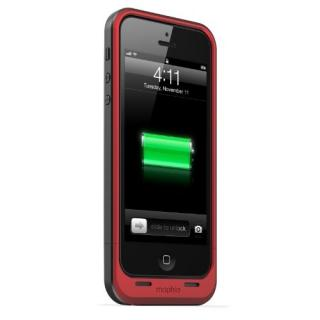 iPhone SE/5s/5 ケース 薄型バッテリー内蔵ケース mophie juice pack air  iPhone SE/5s/5 レッド
