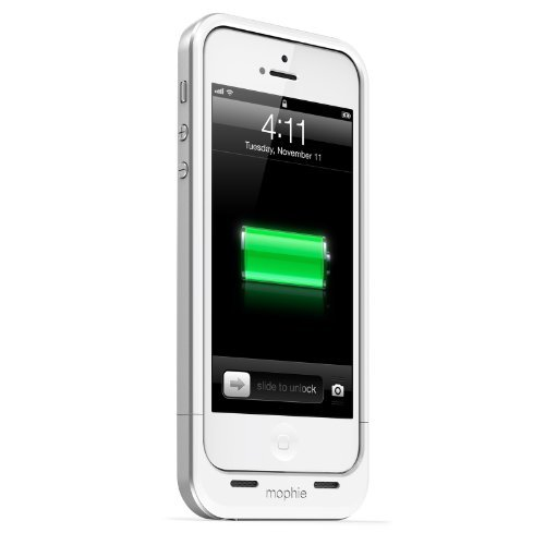 iPhone SE/5s/5 ケース 薄型バッテリー内蔵ケース mophie juice pack air  iPhone SE/5s/5 ホワイト_0