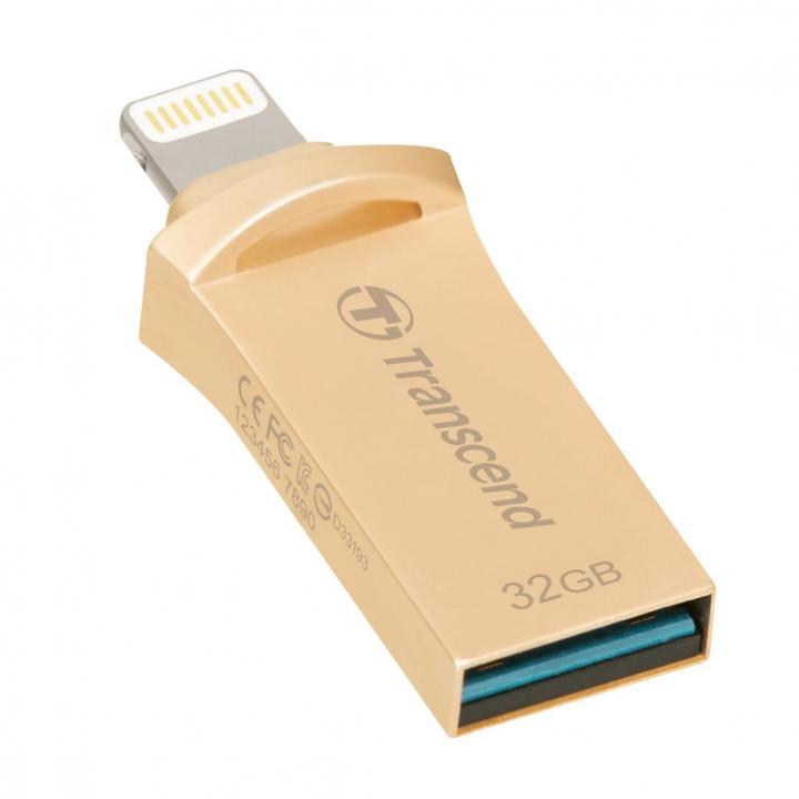 USB/Lightning 最小 フラッシュメモリ JetDrive Go 500 32GB ゴールド_0