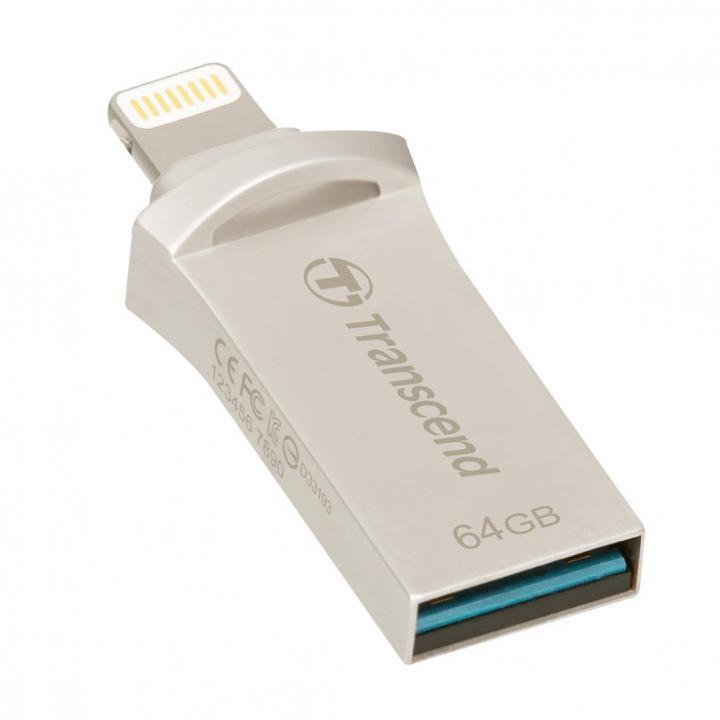 USB/Lightning 最小 フラッシュメモリ JetDrive Go 500 64GB シルバー_0