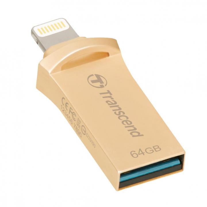 USB/Lightning 最小 フラッシュメモリ JetDrive Go 500 64GB ゴールド_0