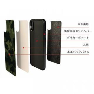 【iPhone8/7ケース】本革カモフラケース Camo グレー iPhone 8/7_3
