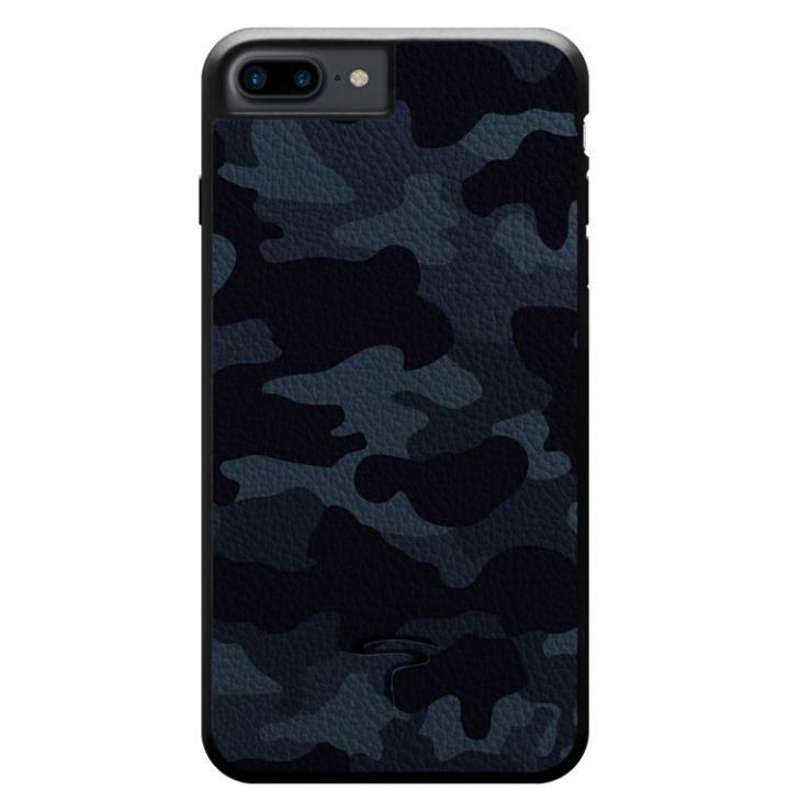 iPhone8 Plus/7 Plus ケース 本革カモフラケース Camo ネイビー iPhone 8 Plus/7 Plus_0