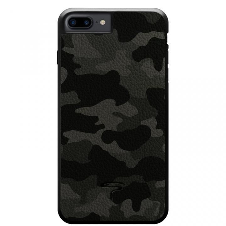 【iPhone8 Plus/7 Plusケース】本革カモフラケース Camo グレー iPhone 8 Plus/7 Plus_0