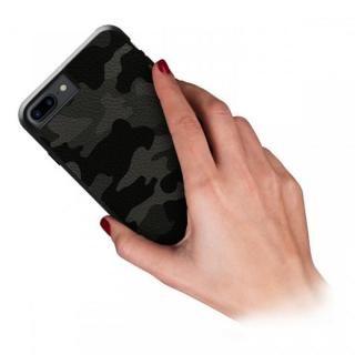 【iPhone8 Plus/7 Plusケース】本革カモフラケース Camo グレー iPhone 8 Plus/7 Plus_1