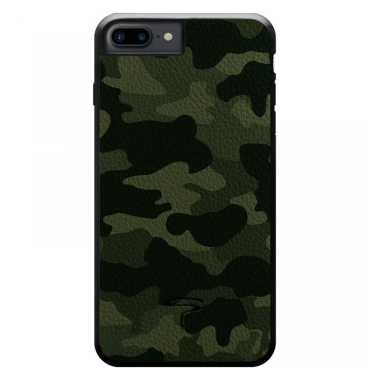 iPhone8 Plus/7 Plus ケース 本革カモフラケース Camo グリーン iPhone 8 Plus/7 Plus_0