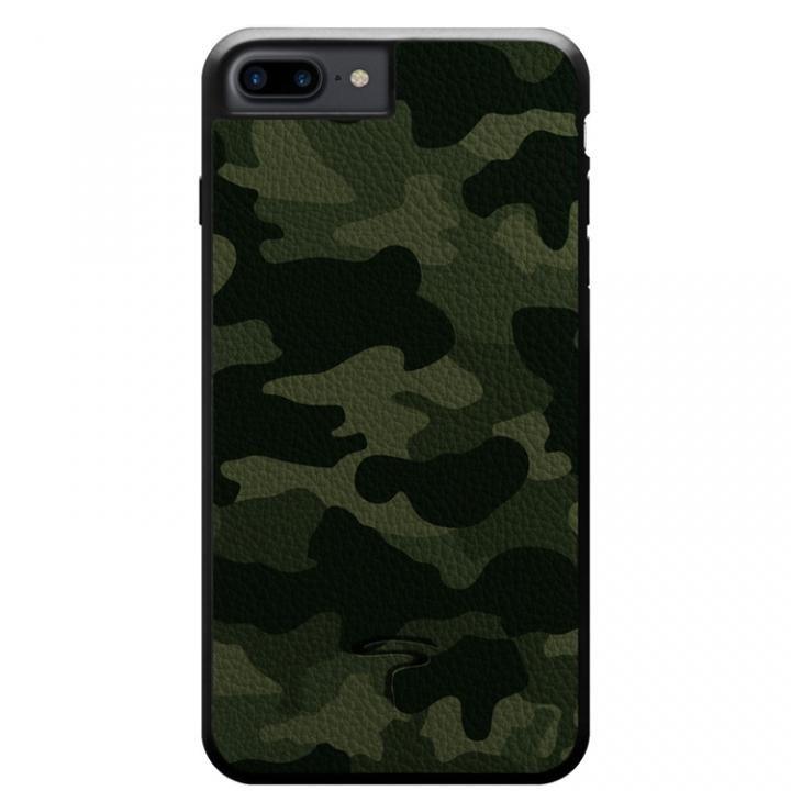 【iPhone8 Plus/7 Plusケース】本革カモフラケース Camo グリーン iPhone 8 Plus/7 Plus_0