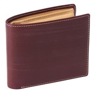 GORBE ブライドルレザー二つ折り財布 バーガンディ