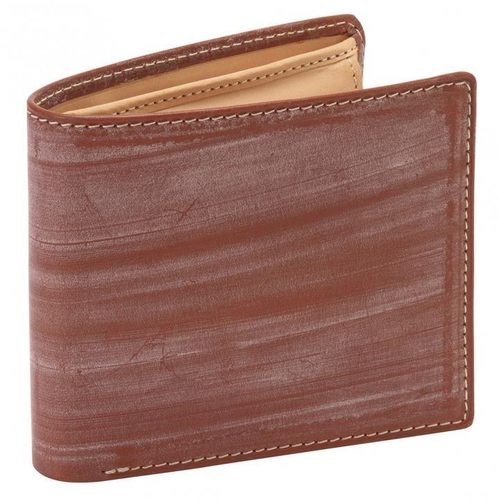 GORBE ブライドルレザー二つ折り財布 ブラウン_0