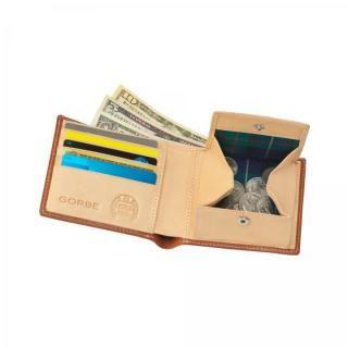 GORBE ブライドルレザー二つ折り財布 ブラウン_6