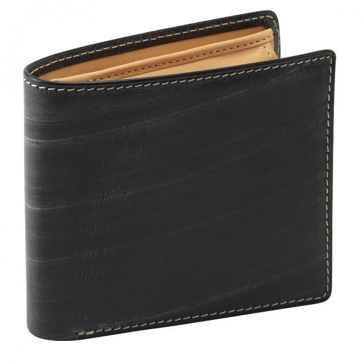 GORBE ブライドルレザー二つ折り財布 ブラック_0