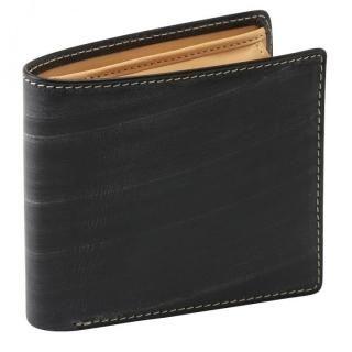 GORBE ブライドルレザー二つ折り財布 ブラック