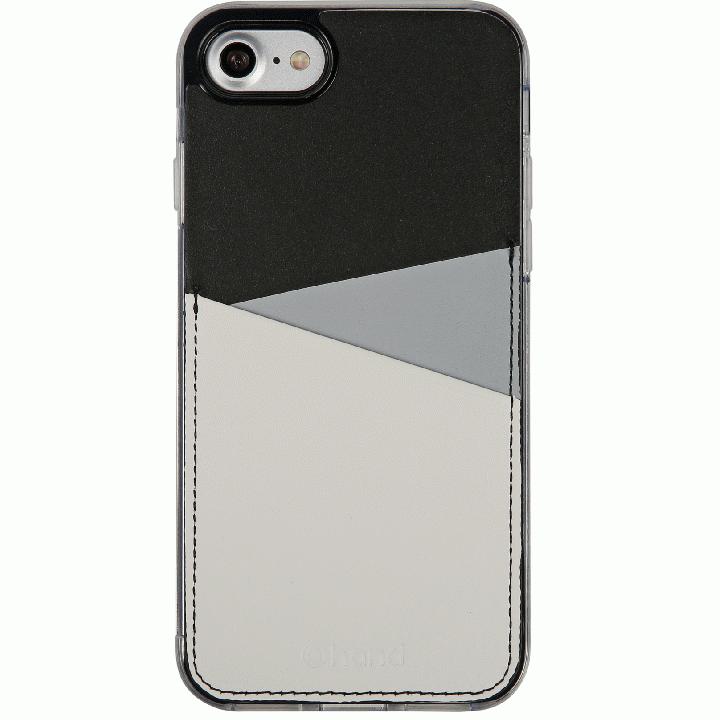 iPhone7 Plus ケース 背面カードポケットケース @hand スラッシュ グレイ iPhone 7 Plus_0