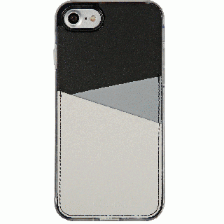 背面カードポケットケース @hand スラッシュ グレイ iPhone 7 Plus