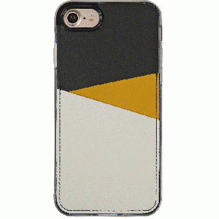 iPhone7 Plus ケース 背面カードポケットケース @hand スラッシュ イエロー iPhone 7 Plus