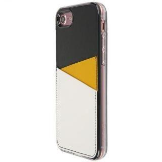 【iPhone7 Plusケース】背面カードポケットケース @hand スラッシュ イエロー iPhone 7 Plus_1