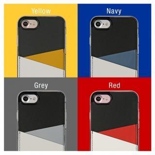 【iPhone7 Plusケース】背面カードポケットケース @hand スラッシュ イエロー iPhone 7 Plus_5