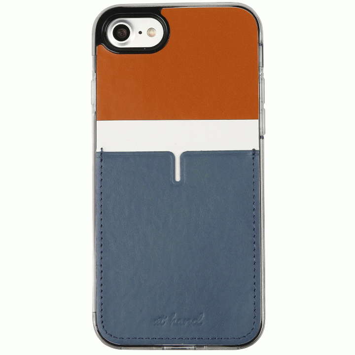 iPhone7 Plus ケース 背面カードポケットケース @hand ハイフン ブラウン iPhone 7 Plus_0