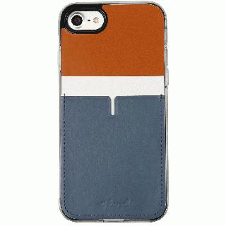 背面カードポケットケース @hand ハイフン ブラウン iPhone 7 Plus
