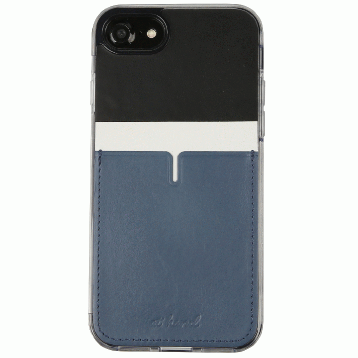 【iPhone7 Plusケース】背面カードポケットケース @hand ハイフン ブラック iPhone 7 Plus_0