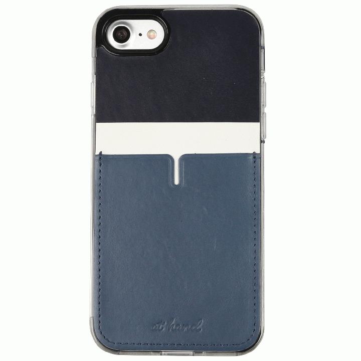 iPhone7 Plus ケース 背面カードポケットケース @hand ハイフン ネイビー iPhone 7 Plus_0