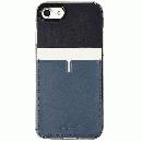 背面カードポケットケース @hand ハイフン ネイビー iPhone 7 Plus