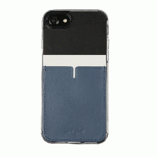 背面カードポケットケース @hand ハイフン ブラック iPhone 7