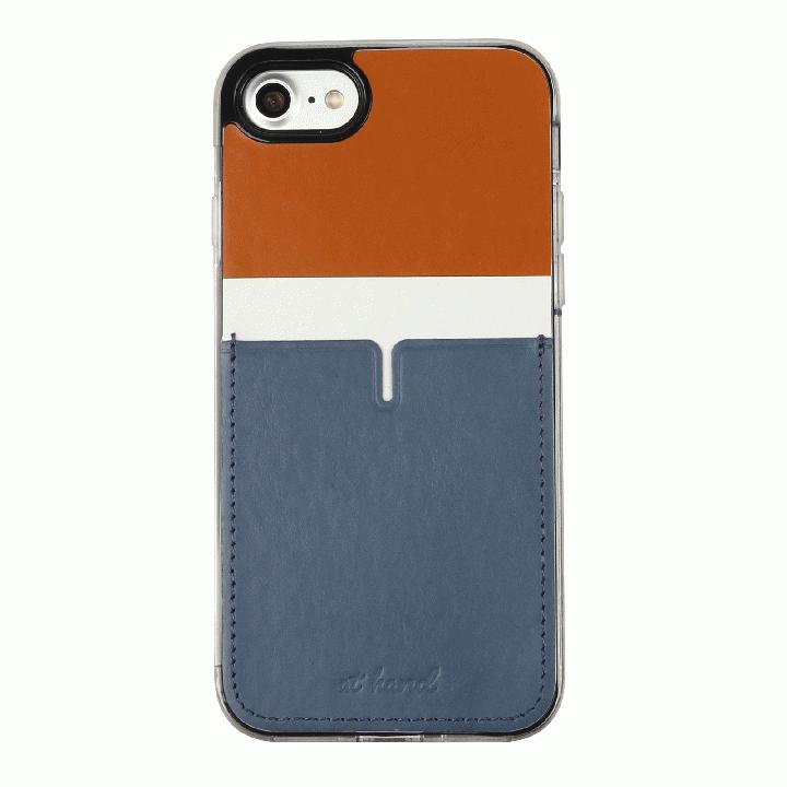 iPhone7 ケース 背面カードポケットケース @hand ハイフン ブラウン iPhone 7_0
