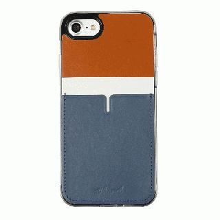 背面カードポケットケース @hand ハイフン ブラウン iPhone 7