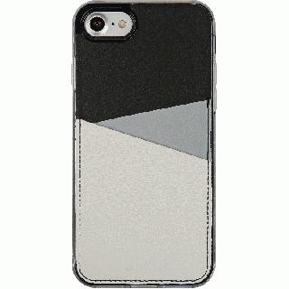 背面カードポケットケース @hand スラッシュ グレイ iPhone 7