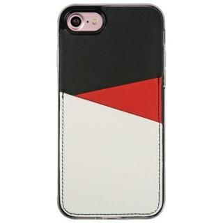 背面カードポケットケース @hand スラッシュ レッド iPhone 7